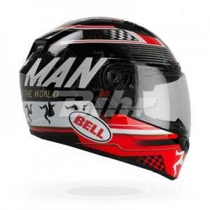 Casco Bell QUALIFIER DLX ISLE OF MAN BLACK/RED S