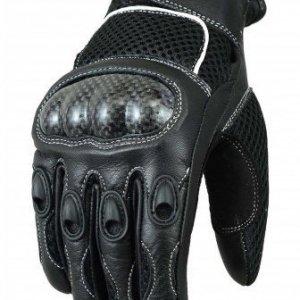 Guantes Bikers Gear Mesh carbono Negro talla M