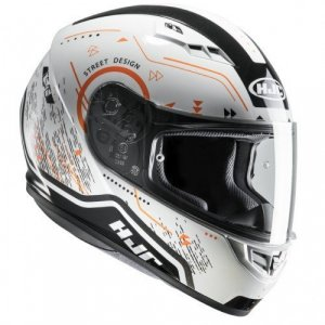 Casco HJC CS-15 Safa White/Orange XL