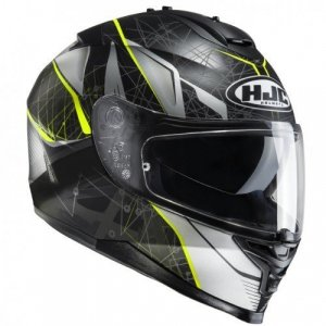 Casco HJC IS-17 Daugava Black/Fluo Yellow S