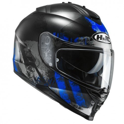 Casco HJC IS17 shapy mc2sf, Negro/Azul Talla XS 1