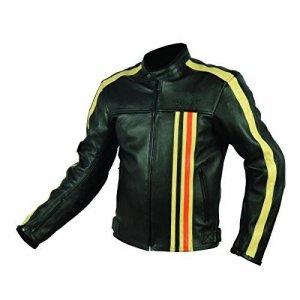 Chaqueta de piel Rider-Tec Vintage Negro XXL