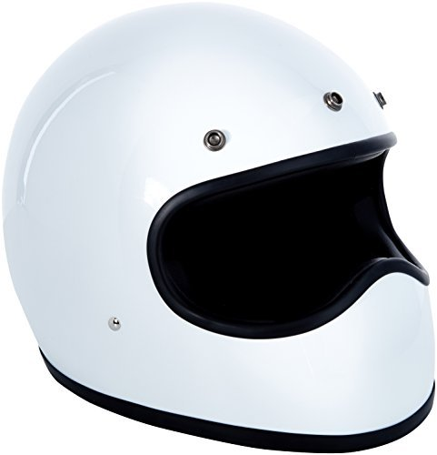 Casco retro DMD Racer White Talla S 1