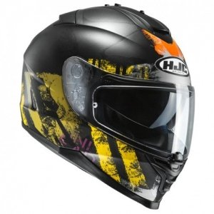 Casco HJC IS-17 SHAPY mc3sf, Negro/Amarillo Talla L
