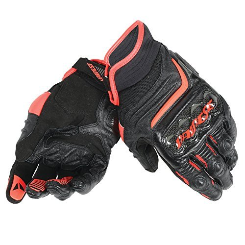 Guantes Dainese CARBON D1 SHORT Fluo-Rojo Talla XS 1