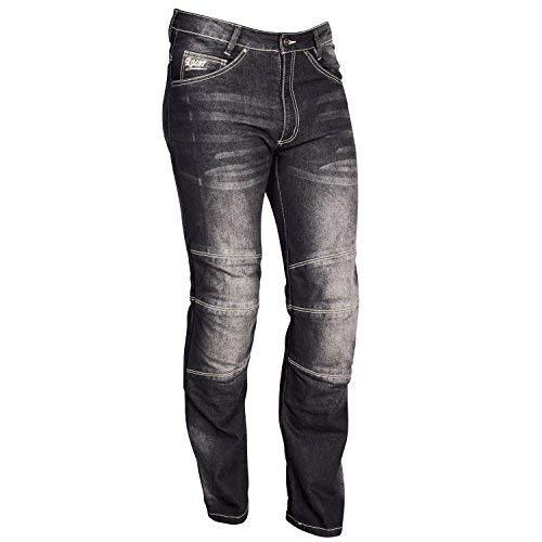 Pantalones Racer Cordura Kevlar Stretch Jeans Negro 4XL 1