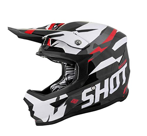 Casco SHOT Cross Furious Score Negro/Rojo XL 1