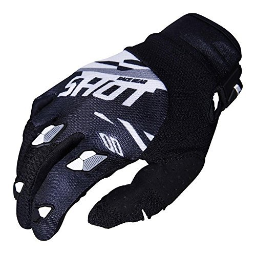 Guantes cross SHOT Contact Score Negro/Blanco L 1