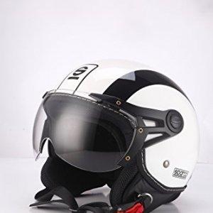 Casco Jet Sparco Riders Blanco/Negro S