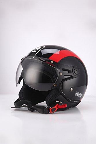 Casco Jet Sparco Riders Negro/Rojo XS 1