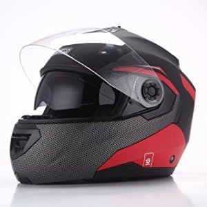 Casco modular Sparco Riders Negro/Rojo Mate XS