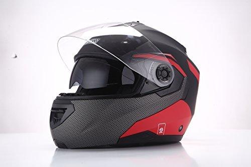Casco modular Sparco Riders Negro/Rojo Mate XS 1
