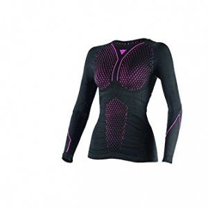Térmica mujer Dainese D-CORE THERMO TEE LS Negro/Fuchsia L