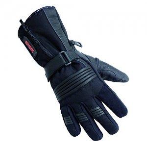 Guante piel MOTORX de Invierno Negro M