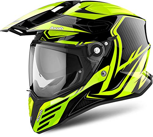 Casco Airoh Commander Carbon Yellow Gloss XXL 1