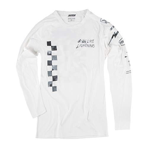 Camiseta Dainese Lightning72 LS Blanco M 1