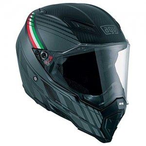 AGV Casco AX 8 Naked-Carbon E05 Negro/Italy XXL