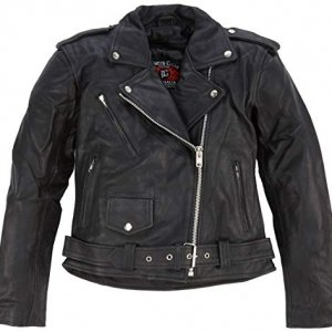 Chaqueta piel Bikers Gear The Patrol Negro L