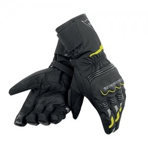 Guantes Dainese Tempest Unisex D-Dry Long Negro/Amarillo-Fluo S