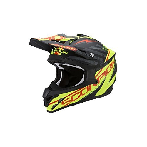 Casco Cross Scorpion EXO VX-15 Evo Air Gamma Negro/Amarillo S 1