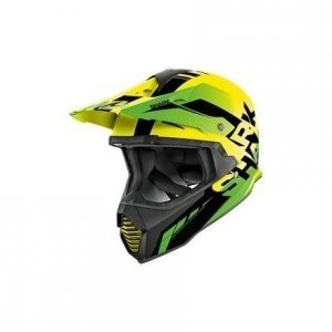 Casco cross Shark Varial Anger Negro/Amarillo L
