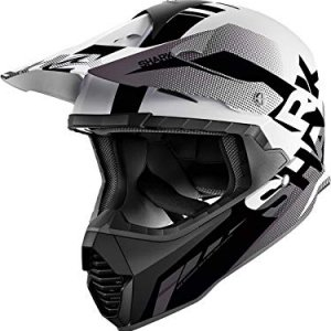 Casco cross Shark Varial Anger Negro/Blanco M
