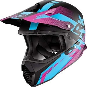 Casco cross Shark Varial Anger Negro/Azul/Purpura M