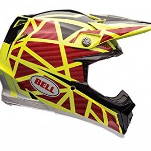 Casco Bell MX Moto-9 Flex Strapped Amarillo/Rojo L