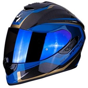 Casco Scorpion Exo 1400Air Carbon Esprit Black/Blue XXL