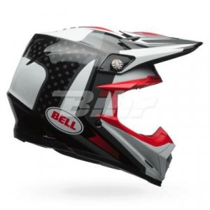 Casco MX Bell Moto-9 Flex Vice Negro/Blanco 2XL