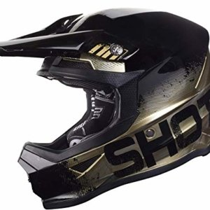 Casco Cross Shot Furious Oro/Cromo Mate M