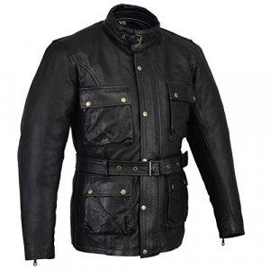 Chaqueta piel Bikers Gear Vintage Negro XXL