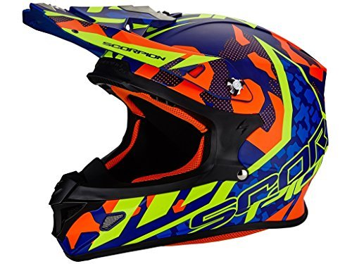 Casco Scorpion Moto VX-21 Air Furio Blue/Red/Neon M 1
