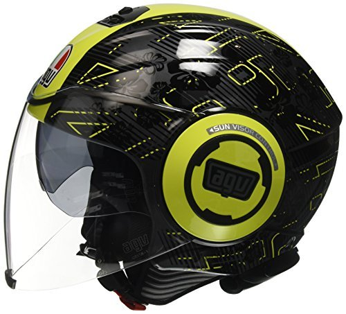 Casco jet AGV Fluid E2205 Top Ibiscus XS 1
