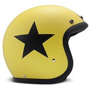 Casco DMD Vintage Star Amarillo/Negro M
