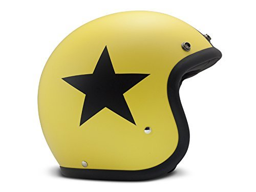 Casco DMD Vintage Star Amarillo/Negro M 1