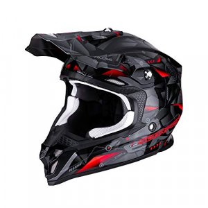Casco Scorpion VX-16 Air Punch Negro/Rojo M