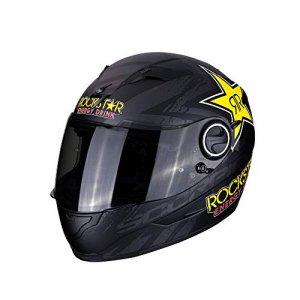 Casco Scorpion Exo 490 Rockstar Negro XS