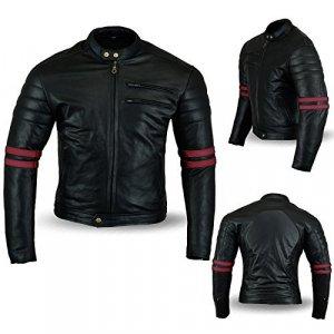 Chaqueta Bikers Gear Cafe Racer Negro/Rojo 5XL