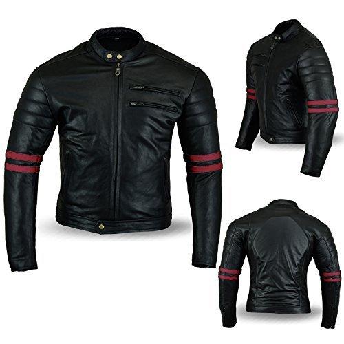 Chaqueta Bikers Gear Cafe Racer Negro/Rojo 5XL 1