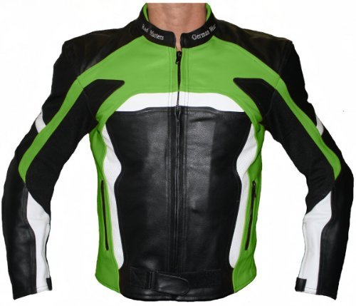 Chaqueta piel German Wear Negro/Verde 50 1