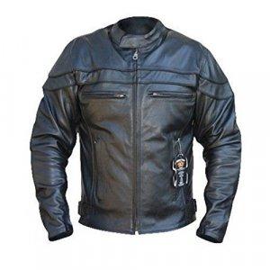 Chaqueta cuero Bikers Gear Sturgis Monza Negro L