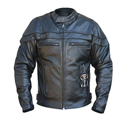 Chaqueta cuero Bikers Gear Sturgis Monza Negro L 1