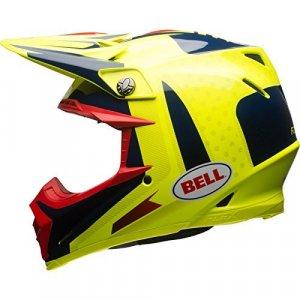 Casco Bell Moto-9 Carbon Flex ViceAmarillo/Azul M