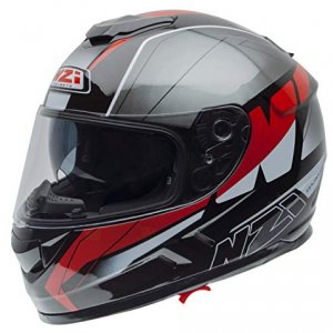 Casco NZI Symbio 2 Duo Graphics Mega Negro/Rojo XL