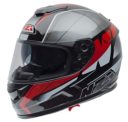 Casco NZI Symbio 2 Duo Graphics Mega Negro/Rojo XL 1