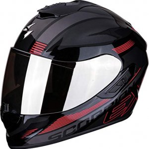 Casco Scorpion Exo 1400 Air Free Metal Negro/Rjo M