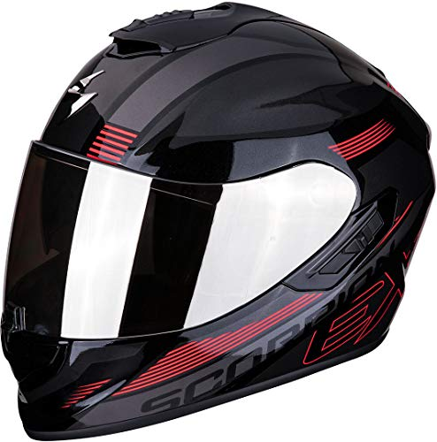 Casco Scorpion Exo 1400 Air Free Metal Negro/Rjo M 1