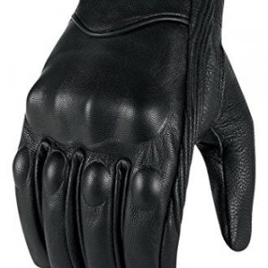 Guantes piel Bikers Gear Cruiser Retro Negro XL