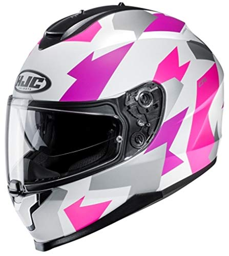 Casco HJC C70 Valon MC8SF Blanco/Fucsia XS 1